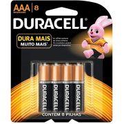 Pilha Alcalina Duracell Duralock AA com 8 Unidades