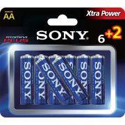 Pilha Alcalina Sony AA 1,5v Stamina Plus Am3-b6x2d