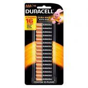 Pilha Duracell Alcalina AAA Cartela C/ 16 Unidades