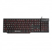 Teclado Gamer Hoopson Semi-Mecanico MJ-62 ABNT2 USB Com Led Preto