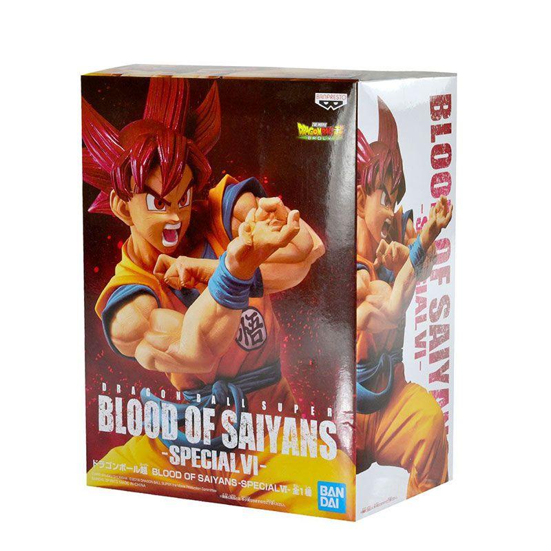 Action Figure Dragon Ball Super Blood Of Saiyans Special Vol. 6 Super Saiayan God Sun Goku 29826/29827