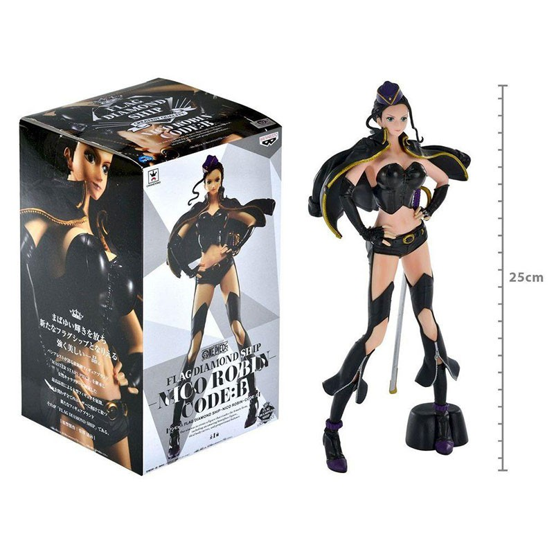 Action Figure One Piece Flag Diamond Ship Nico Robin Code:B 28712/28713