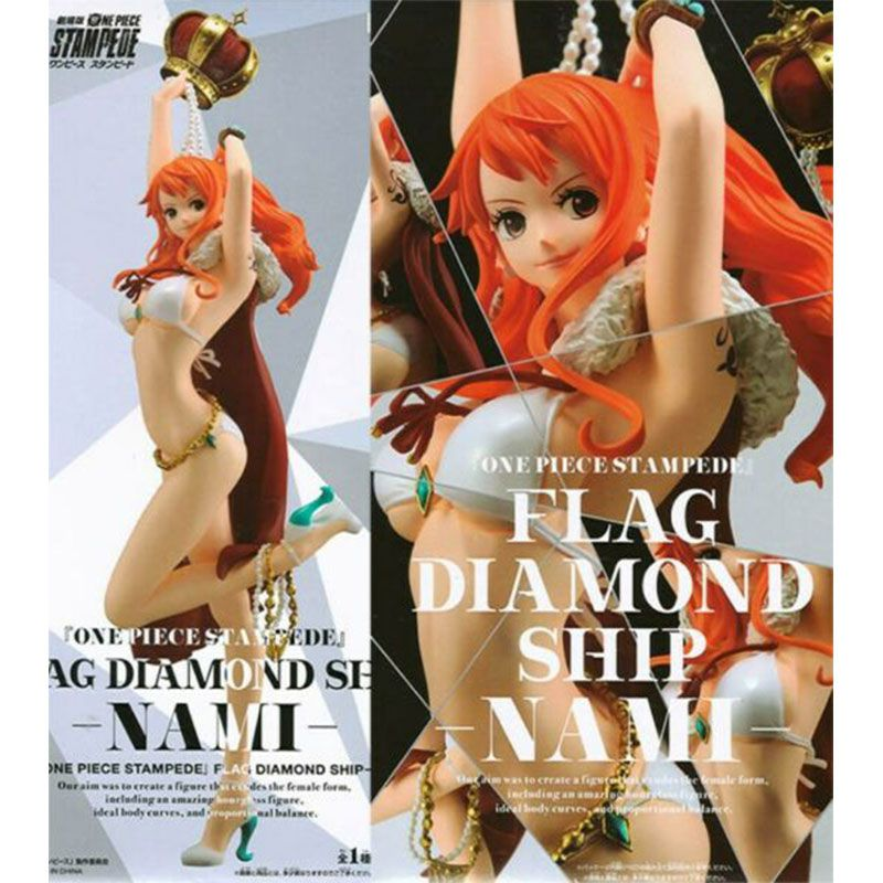 Action Figure One Piece Stampede Movie Flag Diamond Ship Nami 29808/29809