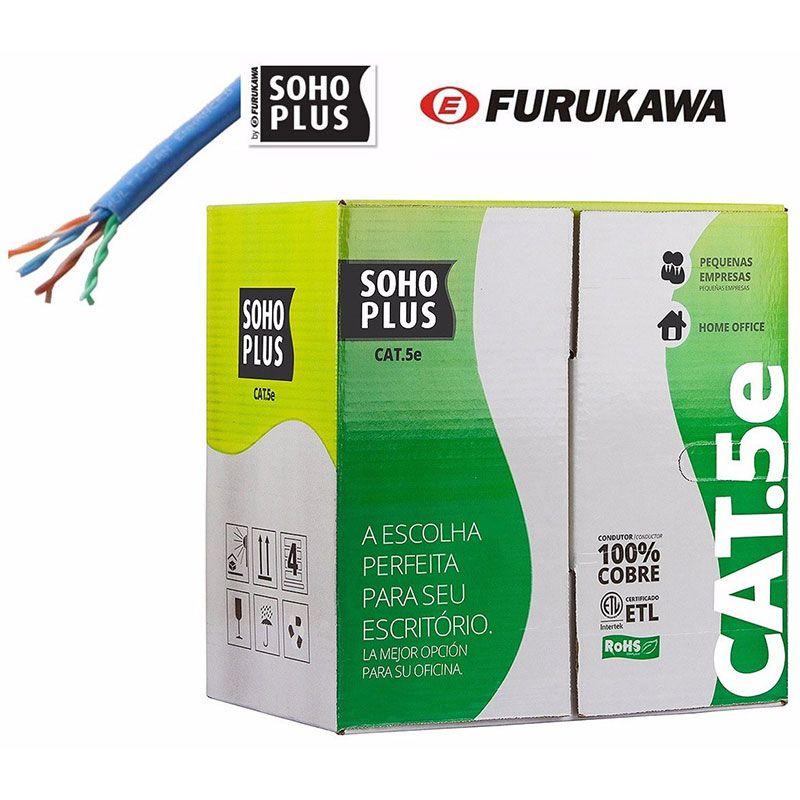 Cabo de Rede CAT5E Soho Plus 305M Azul Furukawa