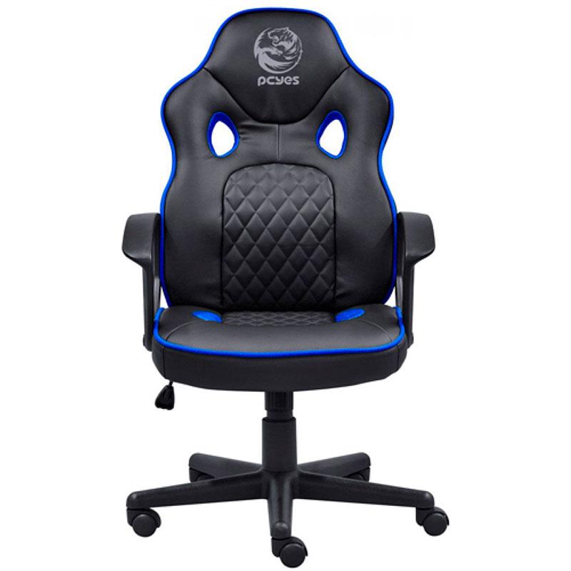 Cadeira Gamer PCYES Mad Racer Master STI - Azul e Preta