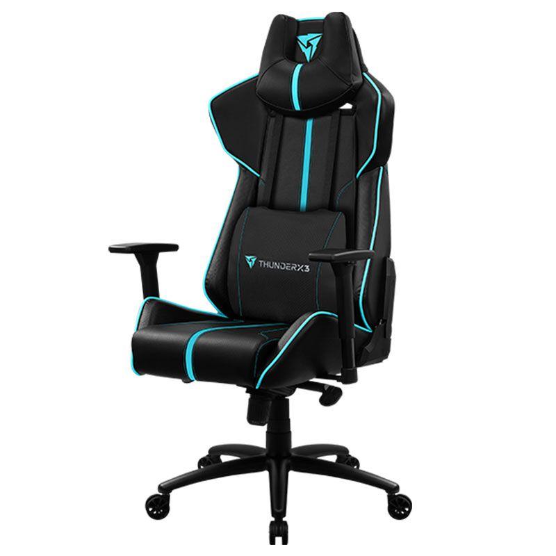 Cadeira Gamer ThunderX3 BC7 Larger 200Kg Preto e Ciano