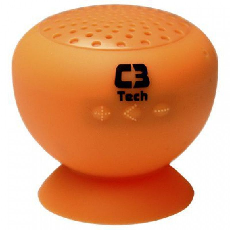 Caixa de Som Bluetooth C3 Tech SP-12B 3W Rms Laranja