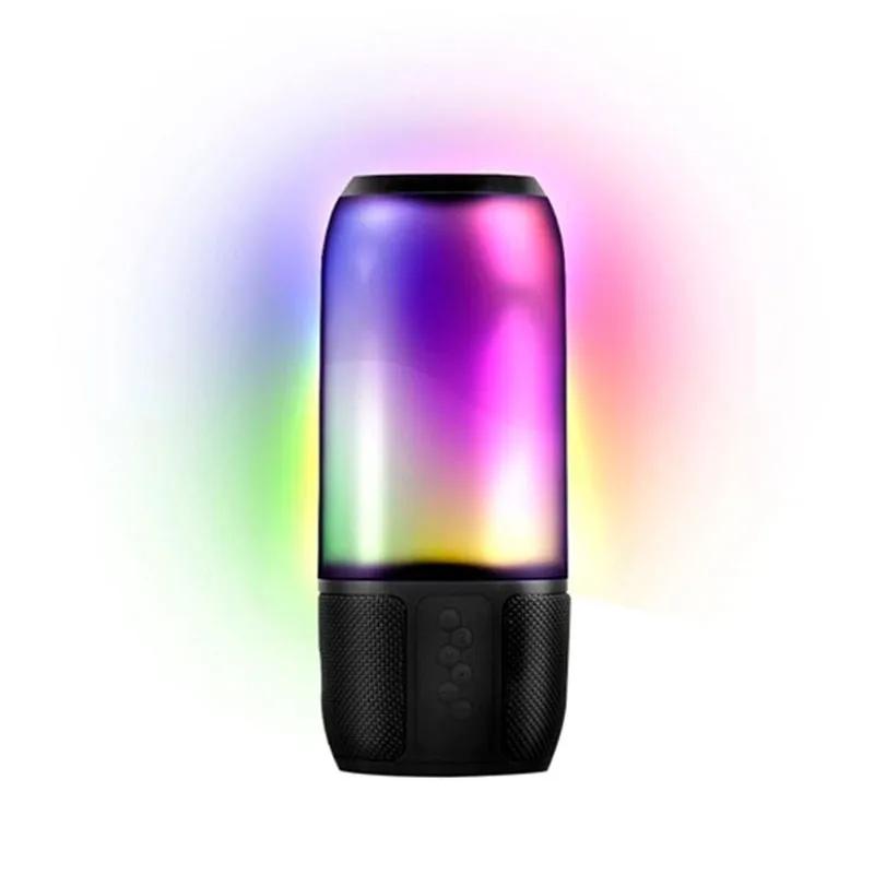 Caixa de Som Bluetooth Novik USB Light Show 8W com LED
