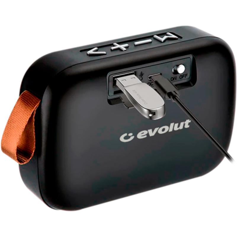 Caixa De Som Evolut Bluetooth EO-650 Cinza