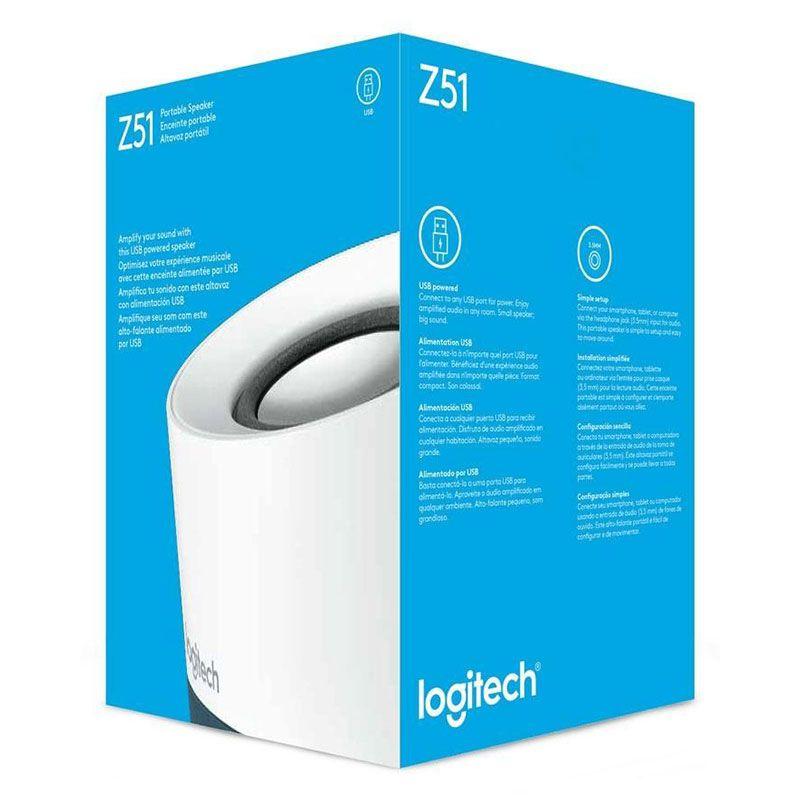 Caixa de Som Logitech Z51 Portátil USB P3