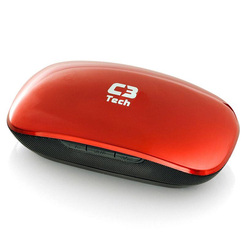 Caixa de Som Portátil C3Tech Street BitBox ST-120 Vermelho