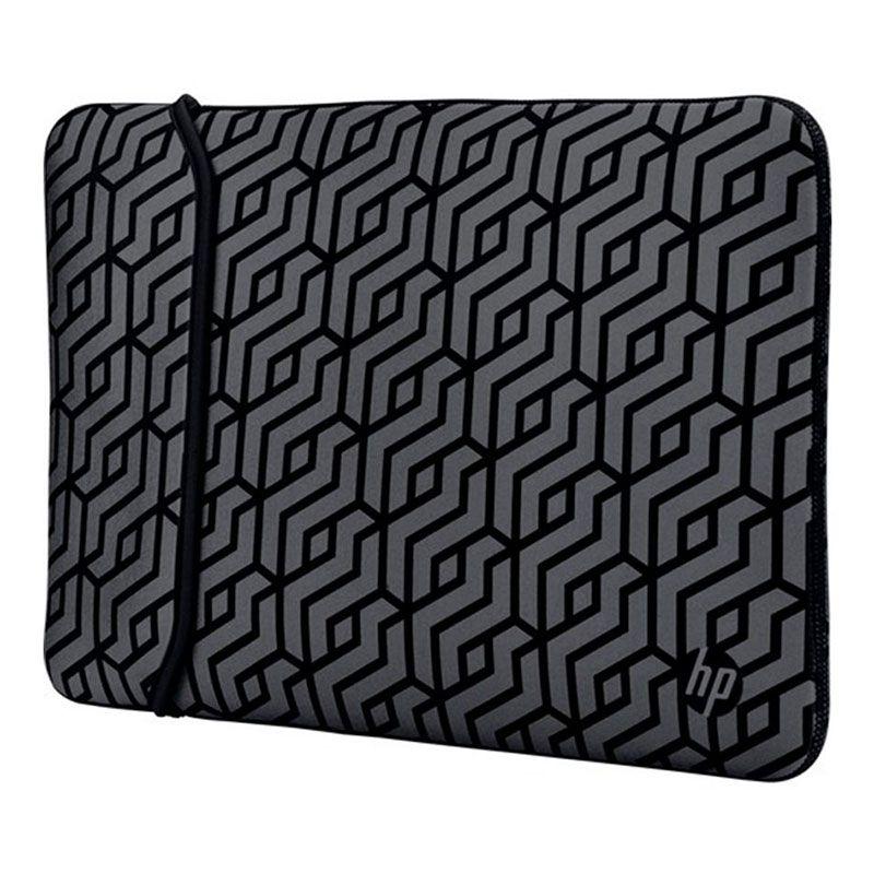 Capa Sleeve Para Notebook HP 14? Preto/Cinza