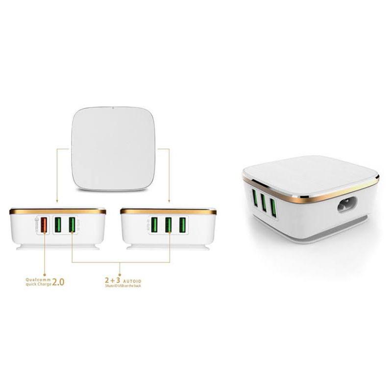Carregador Para Celular Xtrad 6 USB Tomada 7a Auto-id A1021