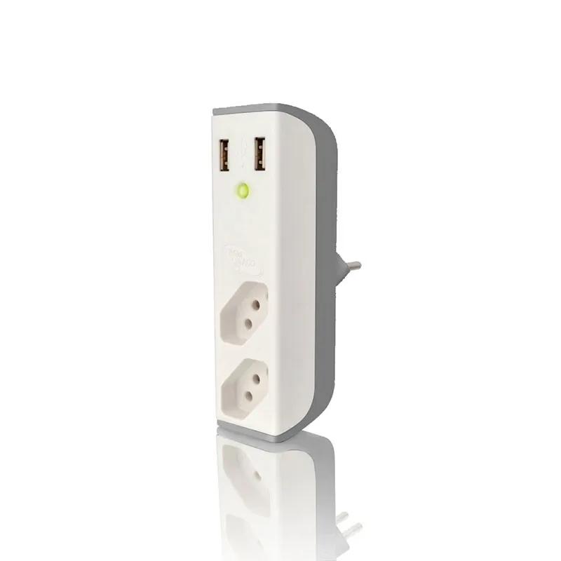 Carregador  USB 2,1A + filtro Bem Ligado FL-USB21GWH Branco