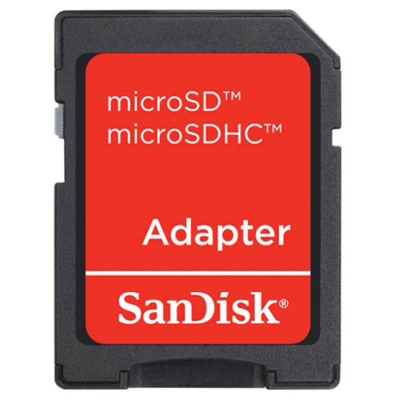 Cartão de Memória Sandisk Micro SD 16GB Com Adaptador - SDSDQM-016G-B35A