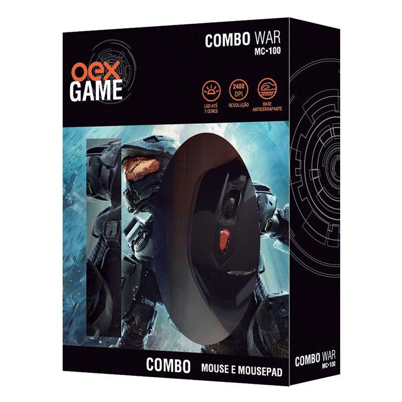 Combo Gamer OEX War MC-100 Mouse + Mousepad