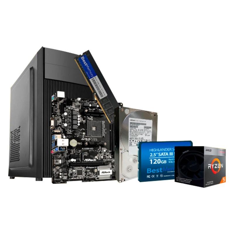 Computador Cyber 02 AMD 3400G, 8GB, 1TB, SSD 120GB Fonte 230W