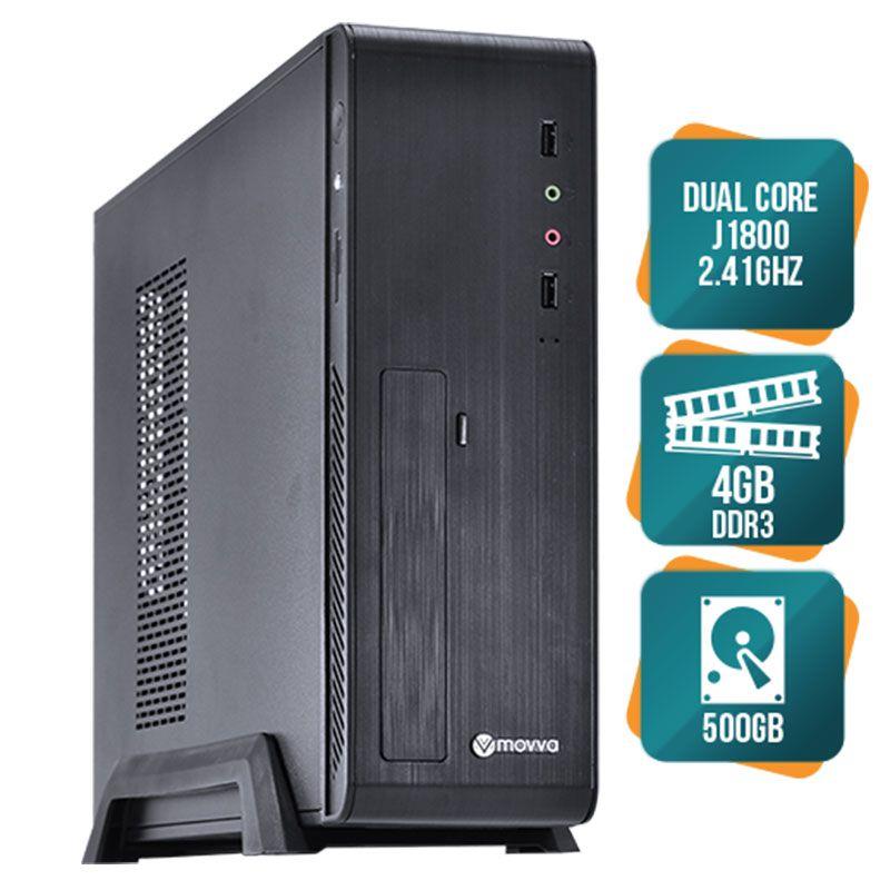 Computador Movva Lite Intel Dual Core J1800 2.41GHZ, 4GB, 500G, 275W Slim - Linux