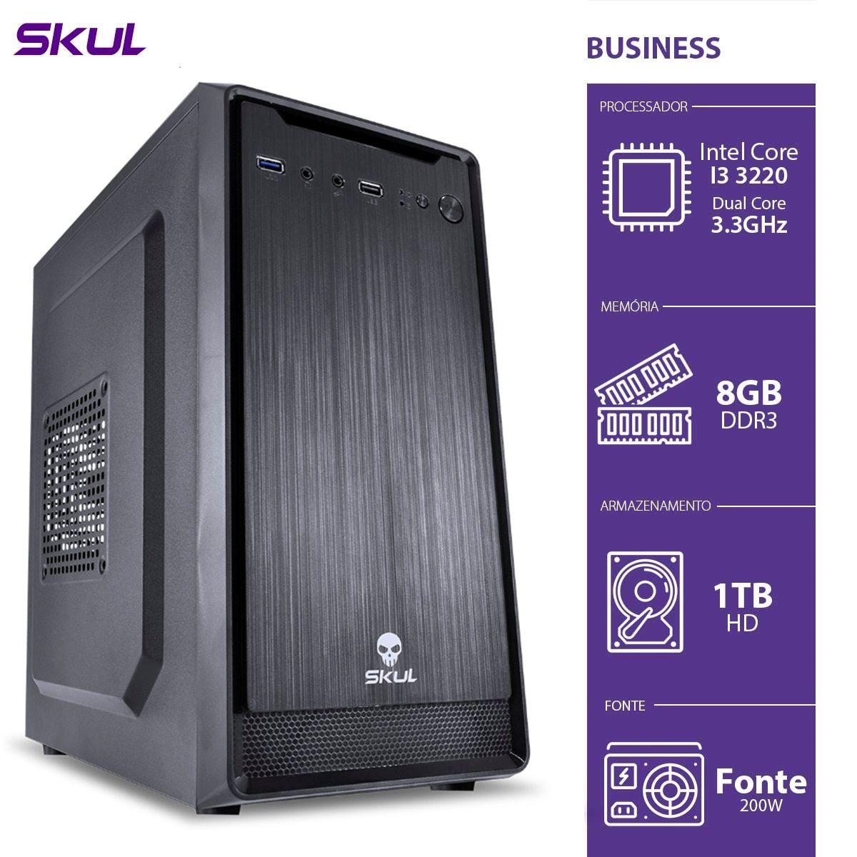 Computador Skul Business B300 - I3, 8G, HD 1TB, FONTE 200W (Sob Encomenda)