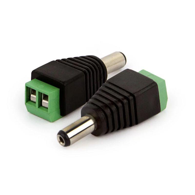 Conector P4 Macho com Borne CFTV