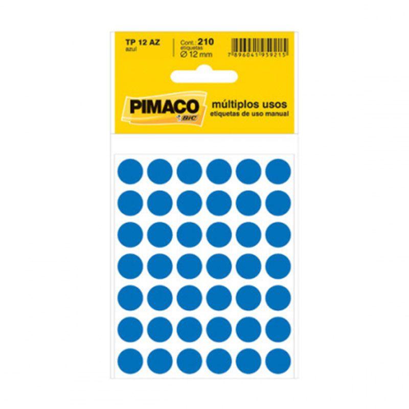 Etiqueta Adesiva Para Codificação Pimaco Com 210 Etiquetas TP-12 Azul