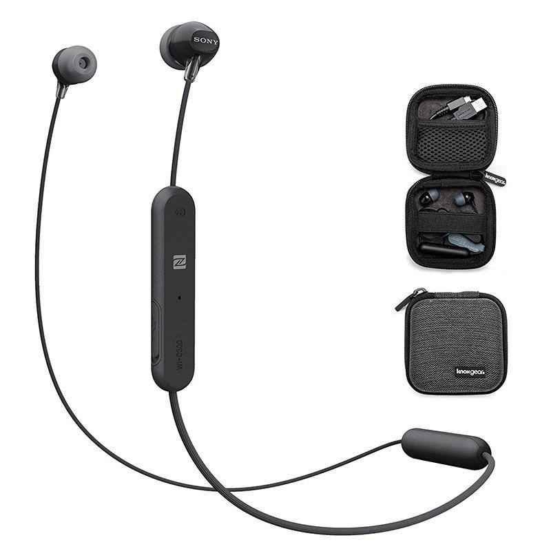 Fone de Ouvido Bluetooth Sony WI-C300 Preto