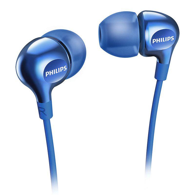 Fone de Ouvido Philips Intra Azul SHE3700BL/00