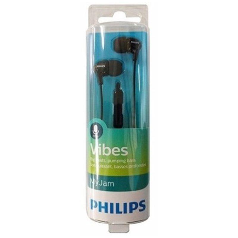 Fone de Ouvido Philips Intra com Microfone SHE3555BK/00 Preto