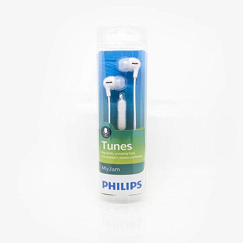 Fone de Ouvido Philips Intra com Microfone SHE3555WT/00 Branco