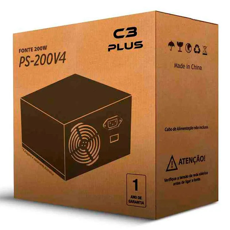 Fonte C3 Plus sem cabo Atx 200W PS-200V4