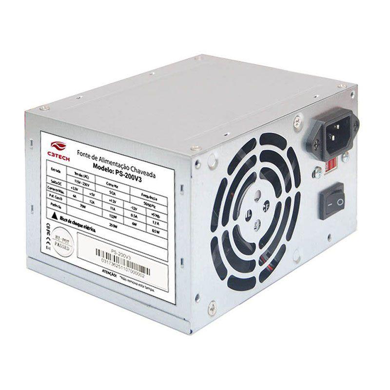 Fonte C3 Tech PS-200V3 200w ATX Sem cabo