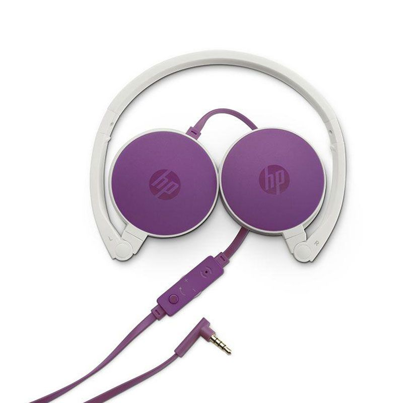 Headphone HP Com Microfone Dobrável H2800 Roxo