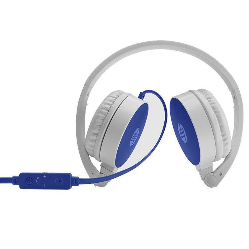 Headphone HP Dobrável Com Microfone H2800 Azul