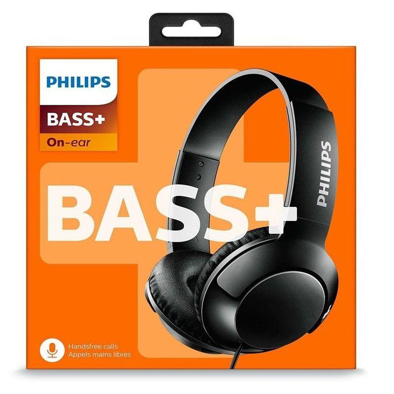 Headphone Philips Com Microfone Bass+ SHL3075BK/00 Preto