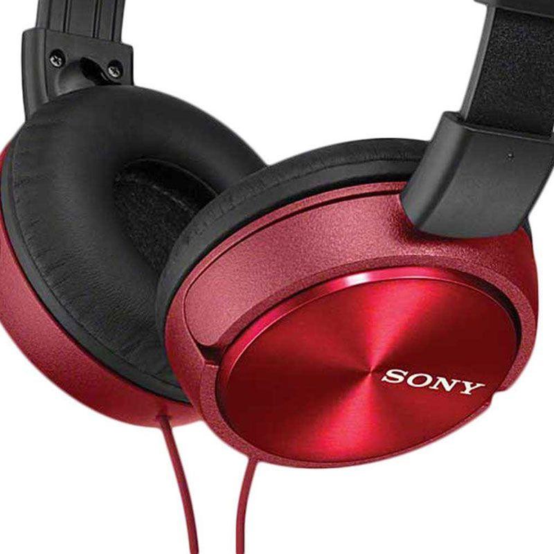 Headphone Sony com Microfone MDR-ZX310AP/R Vermelho