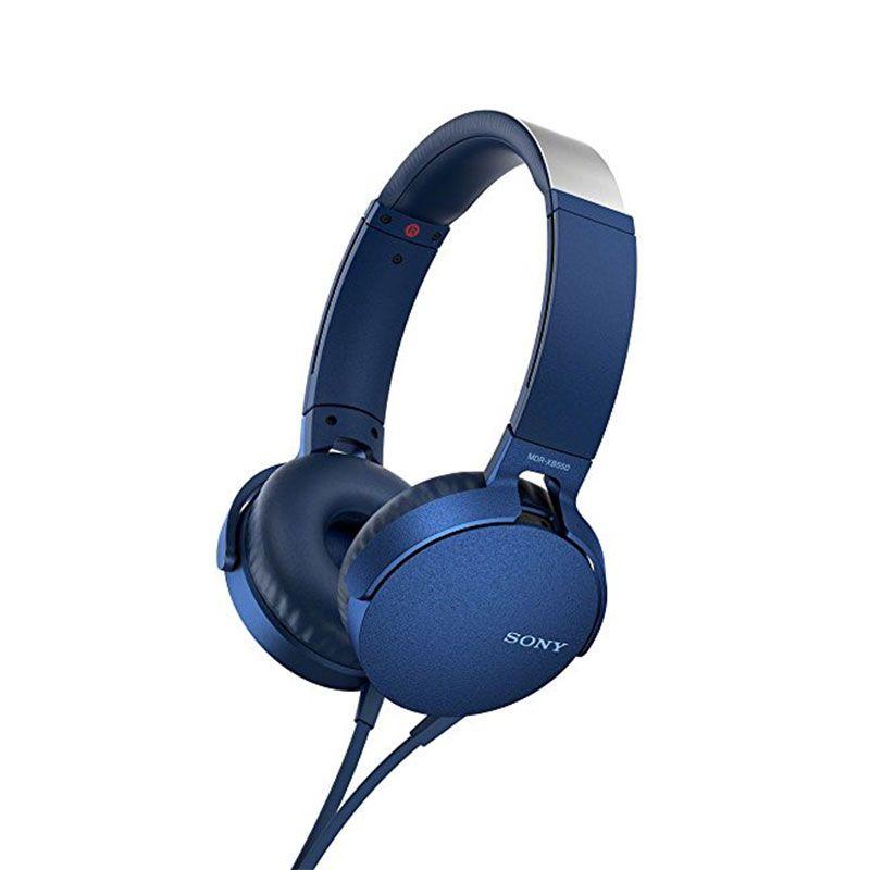 Headphone Sony  Mdr-xb550ap Extra Bass Azul