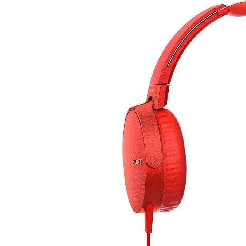 Headphone Sony  Mdr-xb550ap Extra Bass Vermelho