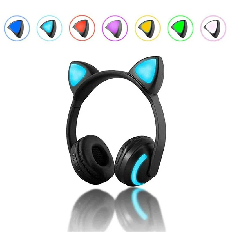 Headphone Wireless Cat Ear XLS ZW-19 RGB