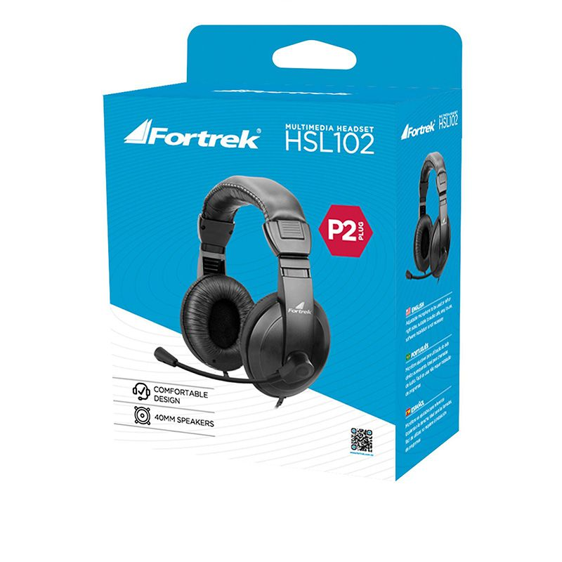 Headset Fortrek HSL-102 P2 Preto