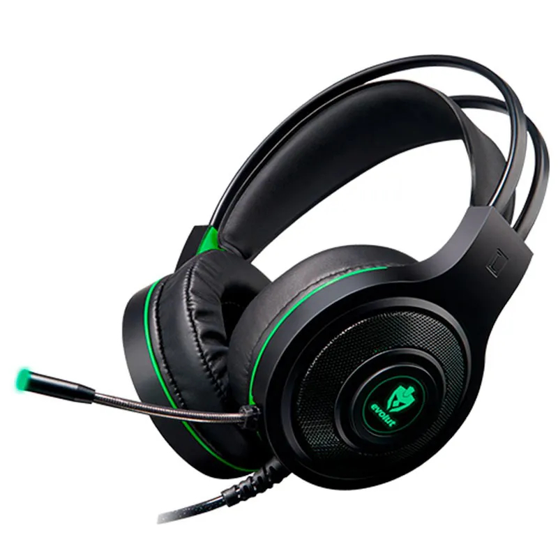 Headset Gamer Eg301GR Temis Evolut verde