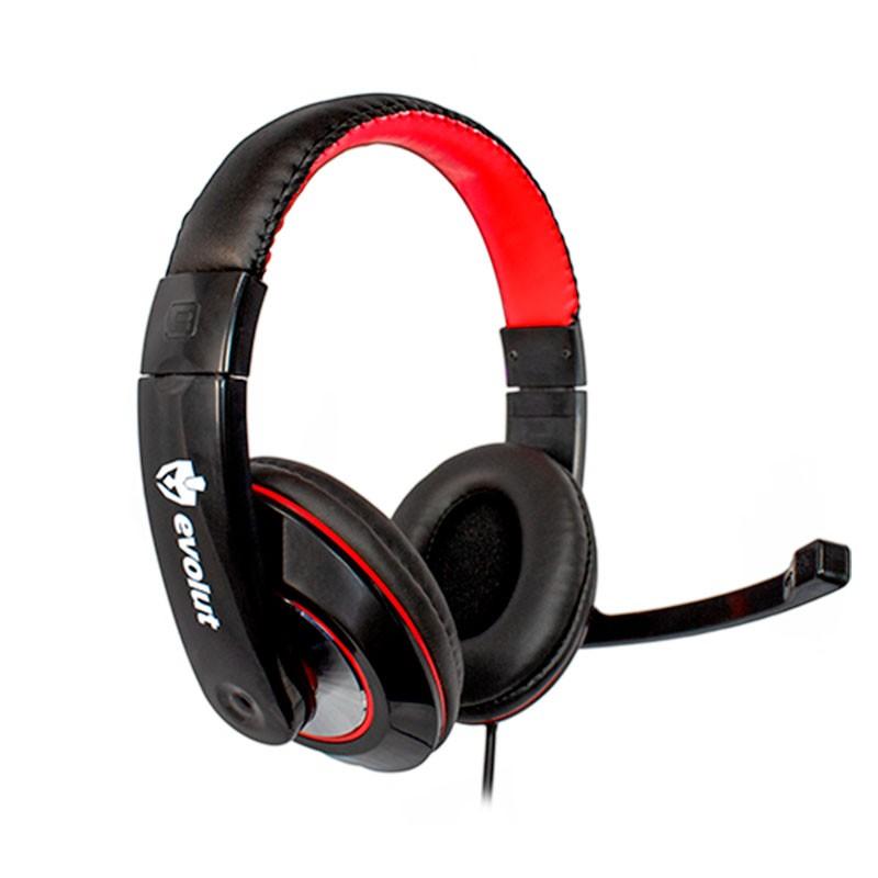 Headset Gamer Evolut EG302 Thardus Preto e Vermelho XBOX/PS4
