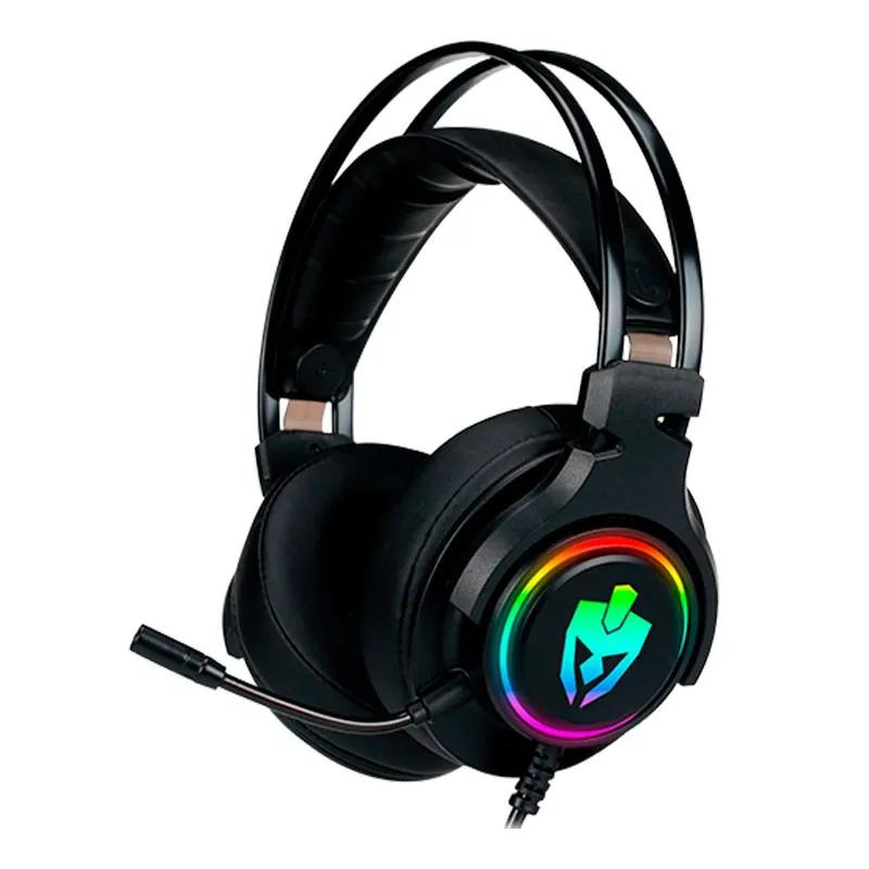 Headset Gamer Evolut USB EG340 Agni RGB Preto