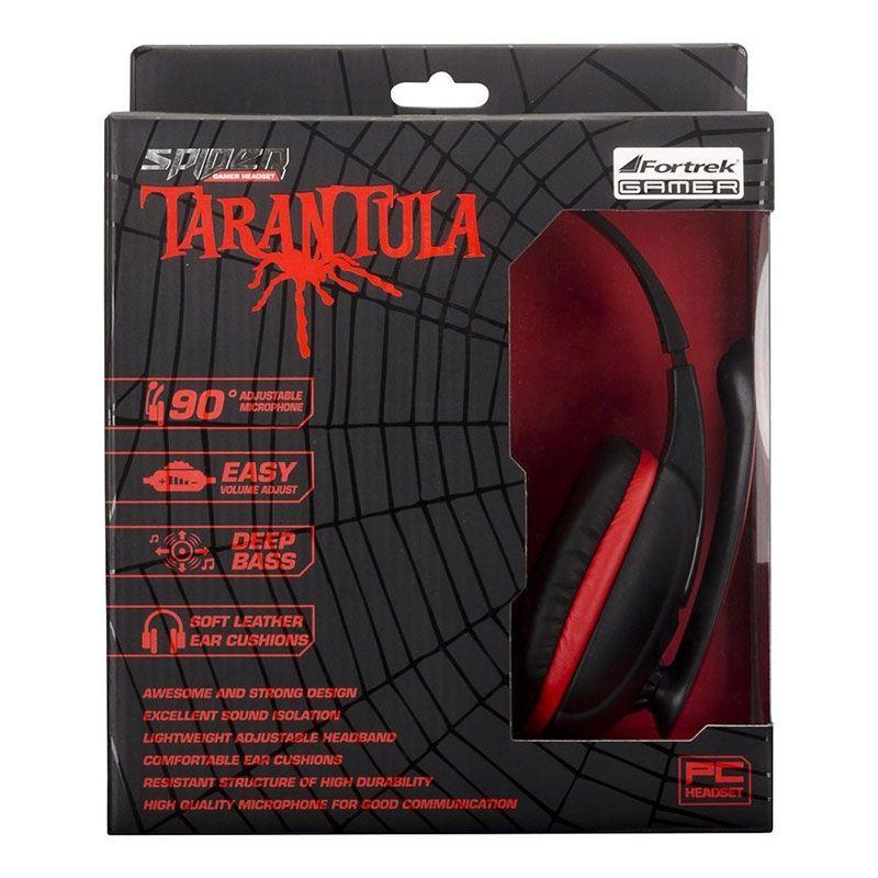Headset Gamer Fortrek Spider Tarantula SHS702 Preto e Vermelho ? PC/XBOX 360
