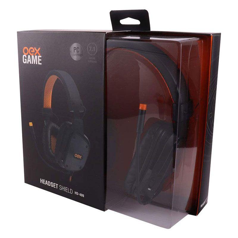 Headset Gamer OEX Shield HS-409 7.1 Preto