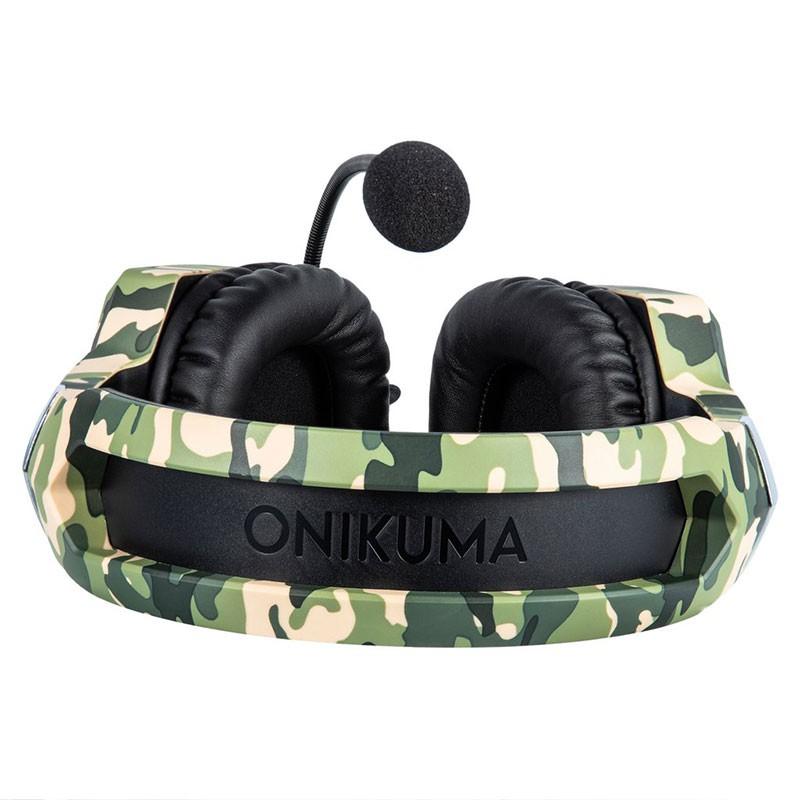 Headset Gamer Onikuma K8 Camuflado Verde RGB PS4, XBOX e PC