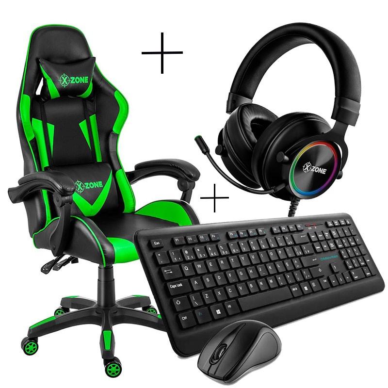Kit Gamer Cadeira, Headset, Teclado e Mouse Xzone