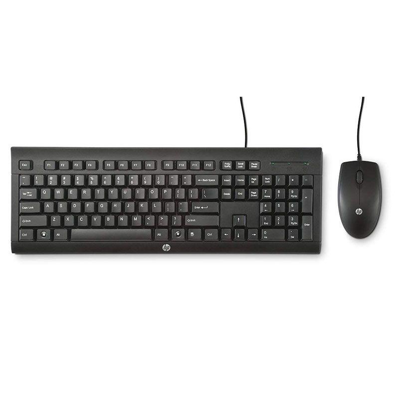 Kit Teclado e Mouse HP USB C2500 ABNT2 Preto