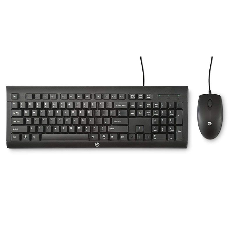 Kit Teclado e Mouse HP USB C2500 ABNT2 Preto