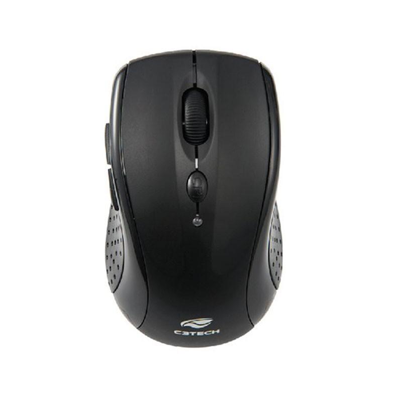 Kit Teclado e Mouse Sem Fio C3 Tech K-W50BK