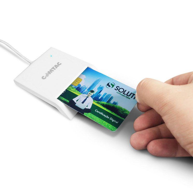 Leitor e Gravador de Cartão Comtac SmartCard USB 2.0